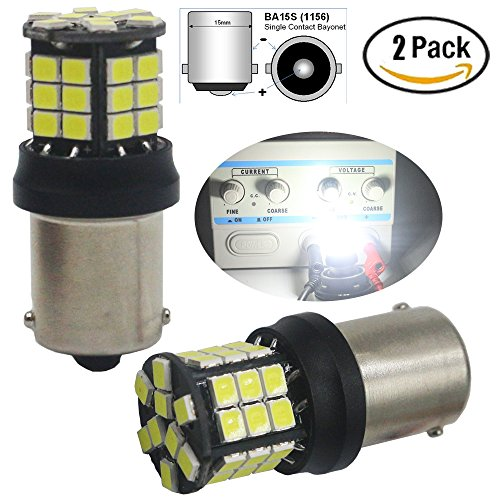 2er Pack 1156BA15S 7506114110031156NA extrem helle Weiß non-polarity 283539-smd 9–30V LED Auto Ersatz Licht für Blinker Blinker Bremslicht Back Up Reverse Beleuchtung Wohnmobil-Beleuchtung Lampe