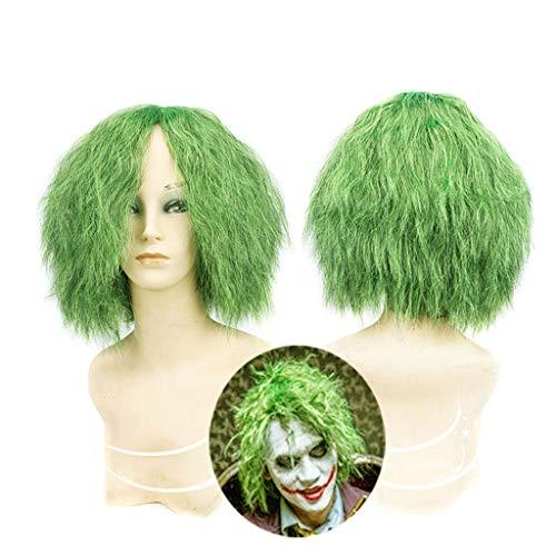 Perücken für frauen , Joker Perücke - Grüne kleine lockige Perücken Batman Dark Knight, Halloween Kostüm Perücke Zubehör Haar Wig ()