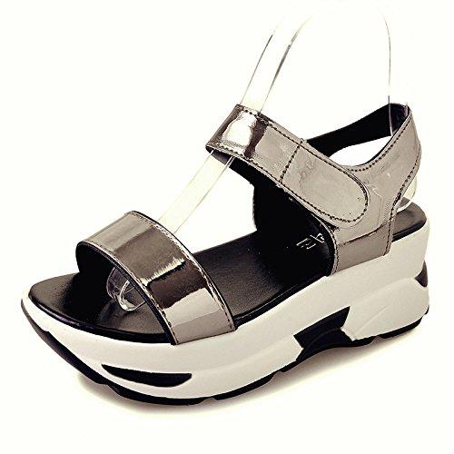 fan4zame Frauen Stöckelschuh Fashion Sandalen Schuhe beständig slipers Cool angenehm atmungsaktiv Sandalen 35 gun color