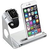 VTin 2 en 1 Stand soporte para Apple Watch/ Plataforma de Cargar para iPhone 6 Plus/6/5S/5/4S /Soporte de Aleación de Aluminio para iPhone y Apple Watch