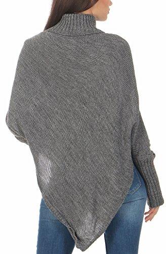 1179f17537bee3 Weste malito Damen Poncho mit Strick Muster | Umhang im eleganten Design |  Überwurf  ?Weste