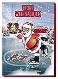 :Adventskalender mit Milchschokolade BAYER 04 LEVERKUSEN (120 Gramm / 35 x 25 x 1,5 cm) Limited Fan Edition