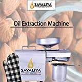 Savaliya Industries Stainless Steel Portable Automatic Coconut Seeds Oil Maker Extractor Mini Machine for Home Use (Silver)
