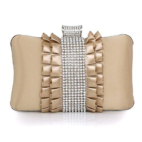 Damen Mode Clutch Handtasche Partei Und Hochzeit Brown
