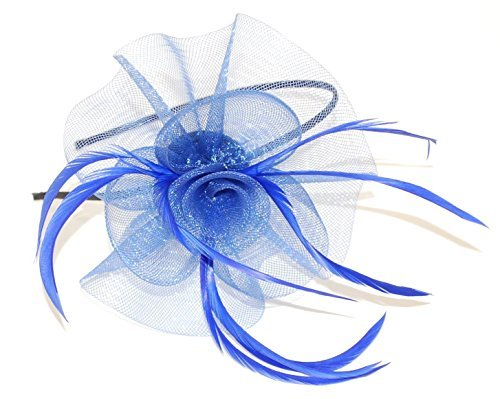 crysta-innovations-ref-4000-blue-looped-net-and-feather-with-centre-detail-fascinator-on-a-narrow-bl