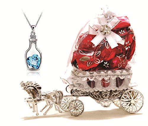 Skylofts Beautiful Horse Chocolate Decoration Piece Gift ( 10pcs chocolates) (with pendant)