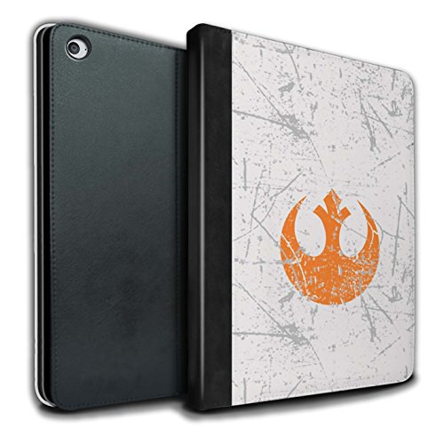 Stuff4® PU-Leder Hülle/Case/Brieftasche für Apple iPad Air 2 Tablet/Rebellenallianz Inspiriert Muster/Galaktisches Symbol Kunst Kollektion (Star Wars Tablet Case)