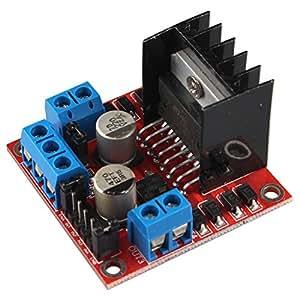 HALJIA L298N h-bridge Dual H ponte DC stepper Motor controller Module per Arduino