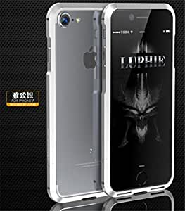 iPhone 7 Plus Case, Lwang 3D Curved Surface CNC Aviation Aluminum Alloy Metal Bumper Frame Cover for iPhone 7 Plus (bumper silver)