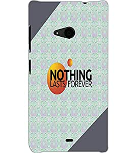 MICROSOFT LUMIA 535 DUAL NOTHING Back Cover by PRINTSWAG
