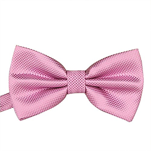 Cdet Pajaritas íneas finas de jacquard de seda de poliéster corbata de moño lazos de mariposa regalo de boda de negocios,Rosa