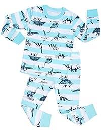"""Babygp dos conjuntos de pijama de """"dinosaurios"""" para los niños de algodón 100% (2-7 años)"""