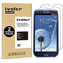 [2 Pack] Samsung Galaxy S3 / S3 Neo Protector de Pantalla, iVoler Protector de Pantalla de Vidrio Templado Cristal Protector para Samsung Galaxy S3 / S3 Neo -Dureza de Grado 9H, Espesor 0,30 mm, 2.5D Round Edge-[Ultra-trasparente] [Anti-golpe] [Ajuste Perfecto] [No hay Burbujas]- Garantía Incondicional de 18 Meses