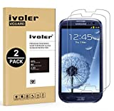 [Lot de 2] Samsung Galaxy S3 / S3 Neo Protection écran, iVoler Film Protection d'écran en Verre Trempé Glass Screen Protector Vitre Tempered pour Samsung Galaxy S3 / S3 Neo - Dureté 9H, Ultra-mince 0.30 mm, 2.5D Bords Arrondis- Anti-rayure, Anti-traces de Doigts,Haute-réponse, Haute transparence- Garantie de Remplacement de 18 Mois