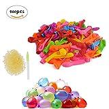 CXvwons Wasserbomben Ballons Wasser-Ballons Luftballons mit 960 Gummibänder und 8 Füllen Instrument (Mehrfarbig 960pcs)