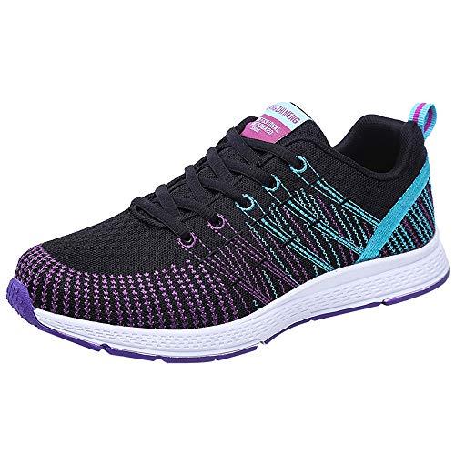 Ginli Unisex Uomo Donna Scarpe da Ginnastica Corsa Sportive Fitness Running Sneakers Basse Interior Casual All'Aperto 35-47