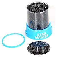 Romatic 1PCS New Colorful Sky Star Master With Moon Novel Festival Gifts Projector Night Light Romatic Cosmos LED Starry Light Lamp (D1)