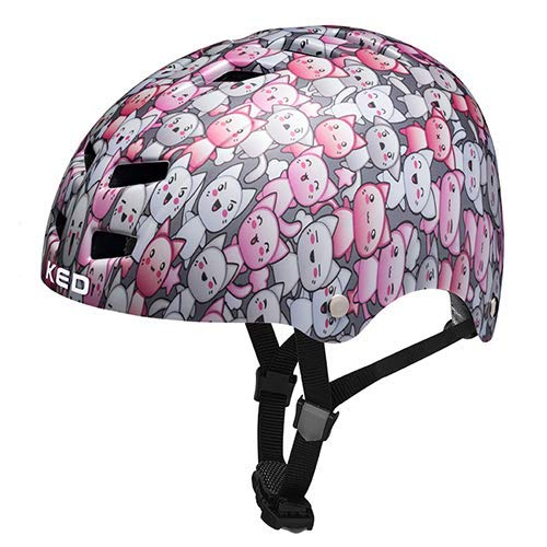 K-E-D Fahrradhelm Control/K-Star - Allround-Helm in robuster maxSHELL- Technologie Quicksafe-System - (Cats)