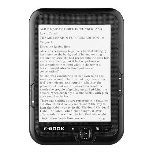 Fishlor E-Reader da 6 Pollici, E-Paper Portatile E-Ink 6-E-Reader E-Book Reader Paperwhite, Paperwhite E-Reader, E-Reader(8G Nero)