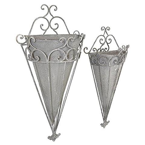 Charles Bentley Florence - Kegel-Blumentopf aus Metall - dekoratives Spalier