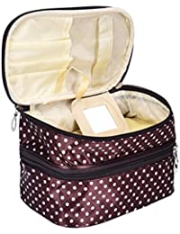 Coffee : Make Up Pouches Storage, Koly® Lady's Dot Pattern Double Layer Cosmetic Bag Travel Toiletry Makeup Bag...