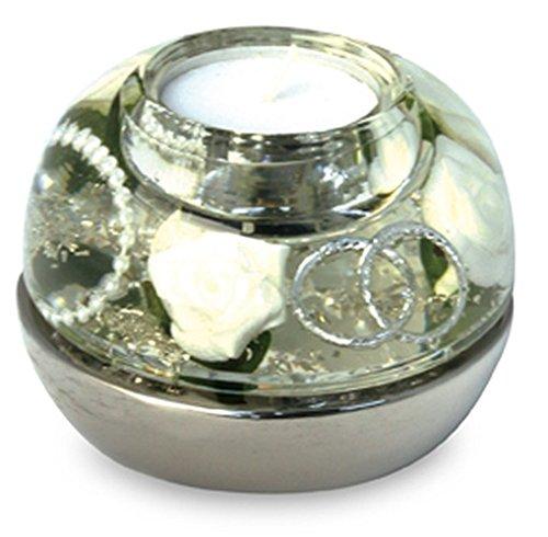Gilde Dream Dome Cla.Wedding Light 2 Stück Selection by Dreamlight silber H = 8 cm D = 11 cm