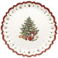 Villeroy & Boch Toy's Delight Fuente para servir redonda, Porcelana Premium, Blanco/Rojo