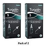 #1: Tugain 5% Solution (60 ml) (Pack of 2), from LifeLine Medicos