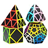 COOJA Speed Cube Set Pyraminx + Megaminx + Mastermorphix + Cubo Skewb,...