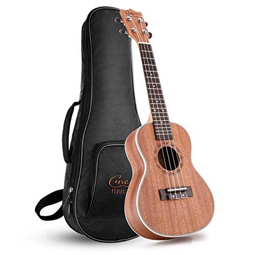 Hricane Ukulelen, UKS-2 Konzert 23 Zoll Professional Ukulele Starter Kleine Gitarre Hawaiianische Gitarre Bündeln mit Tragetasche Test