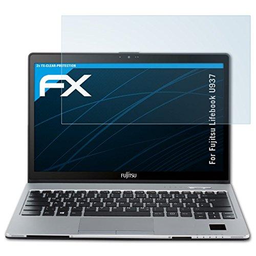 atFolix Schutzfolie kompatibel mit Fujitsu Lifebook U937 Folie, ultraklare FX Bildschirmschutzfolie (2X)