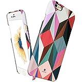 Funda fina para iPhone 6 Plus / 6s Plus, Línea Vintage Obsession de Akna®, Funda rígida fina de alto impacto con forro de tela suave para iPhone 6 Plus & 6s Plus [Colorful Cube]