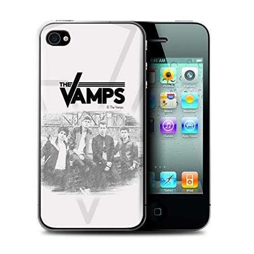 Offiziell The Vamps Hülle / Case für Apple iPhone 4/4S / Pack 6pcs Muster / The Vamps Fotoshoot Kollektion Skizzieren