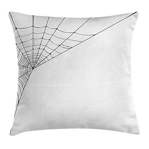 Moderne Dekokissen Cover Spider Web Icon Abstract Form Halloween beängstigend schlecht unter dem Motto