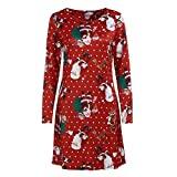 Vêtements LILICAT Womens Christmas Party Dress Ladies Vintage Xmas Swing Lace Dress (Multicolor-TWO, M)