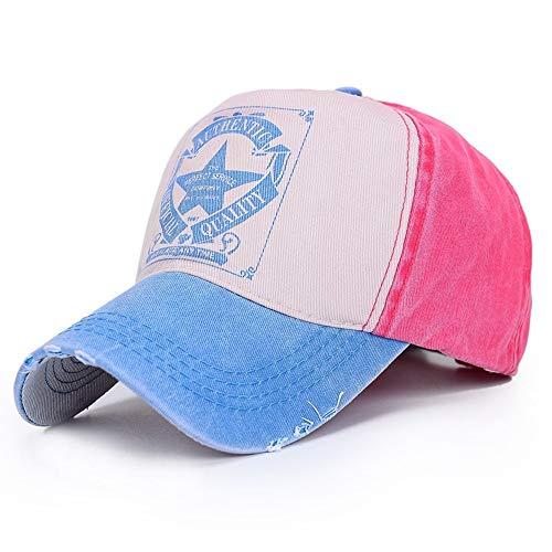 DAMENGXIANG Classic Brief Drucken Baseball Cap Unisex Freizeit Outdoor Sport Verstellbar Polo Hüte Himmel Blau (Polo-hüte Blau)