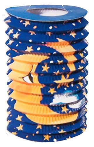 1 Lampion/ Laterne mit elektrischem 30cm Laternenstab Motiv nach Wahl (Zuglaterne Mond)