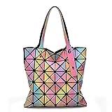 Diamant Laser Rainbow Geometry Taschen Gradient Totes Schulter Messenger Bag