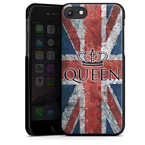 Apple iPhone X Silikon Hülle Case Schutzhülle Queen Großbritannien Flagge Union Jack Hard Case schwarz