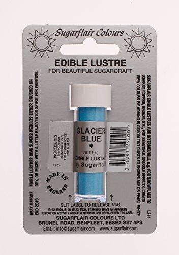 Sugarflair Edible Lustre Essbare Puderfarben essbare lebensmittelfarbe, Fondant Puder GLACIER BLUE