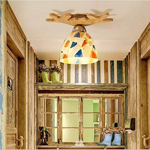 XHCP Wohnzimmer Schlafzimmer Flurbeleuchtung, Haushaltsdeckenleuchte Deckenleuchten Unterputz Massivholz Glaslampen Wohnzimmerlampen Leuchten Flurleuchten Sonnenbrillen Massivholzlampen Hoch Q