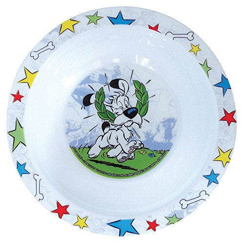 FUN HOUSE 005304 Asterix Bol Micro-ondable pour Enfant PP, Blanc, 16 x 16 x 4 cm
