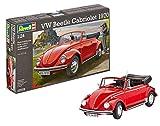 Revell-07078 Volkswagen VW Beetle Cabriolet 1970, Color Rojo (07078)
