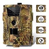 SUNTEKCAM Mini Cámara de Caza 12MP 1080P Full HD 30pcs LED Gran Angular 90 ° Infrarrojos Detector de Movimiento a Prueba de Agua Cámara con cámara para la Caza, vigilancia de Bienes y Animales.