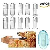 Cepillo de dientes de dedo para perros o gatos mascota. Material de silicona de calidad alimentaria (10 unidades)