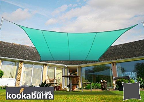 Kookaburra Voile d'Ombrage Imperméable 3,0m Carré Turquoise