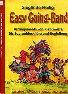 EASY GOING BAND 1 - arrangiert für Sopranblockflöte - PERCUSSION - Blockflöte - Gitarre - Klavier [Noten / Sheetmusic] Komponist: HEILIG SIEGLINDE