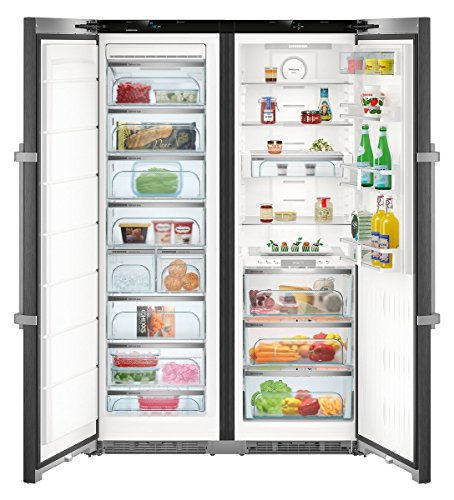 Liebherr SBSbs 8673 frigo américain Autonome Noir 629 L A+++ - Frigos américains (Autonome, Noir, Américain, LED, Porte-sur-porte, Tactil)