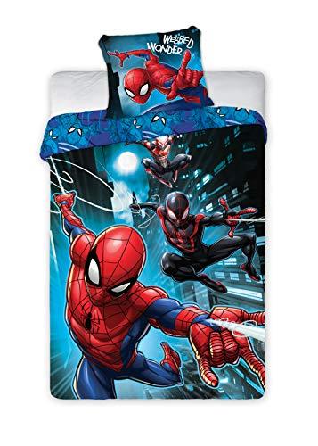 BrandMac Spiderman Marvel Bettwäsche 200 x 135cm, 80 x 80cm 100{e35262d4d77ec68365d399eb87df1c0dc24f0217c434401733831c166e2d46f7} Baumwolle