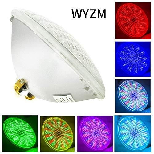 LED Poolbeleuchtung Unterwasser,54W AC 12V,PAR56 LED Pool RGB Mit Fernbedienung Poolbeleuchtung,IP68 Unterwasser Beleuchtung ersatz 500W Halogen Scheinwerfer (Par56 54W-RGB)